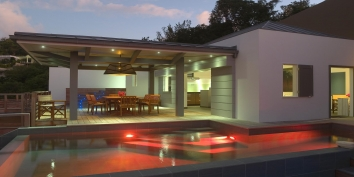 Villa Datcha, Flamands Heights, St. Barts luxury villa rentals.
