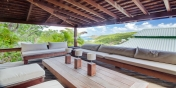 The comfortable outdoor living area of Villa Lama, Flamands Heights, St. Barts, Caribbean.