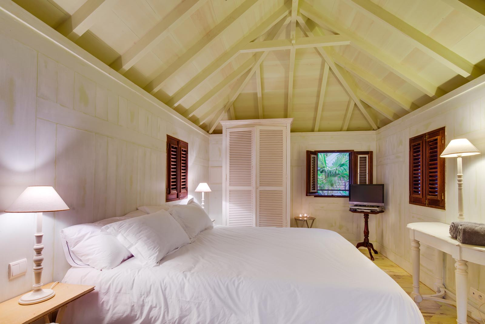 This St. Barths luxury villa rental has a total of 3 bedrooms each with private bathrooms.