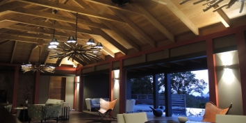 Villa de Moh has contemporary interiors creating a feeling of both luxury and space.