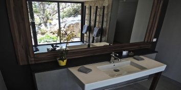 Every bedroom of this St. Barts luxury villa rental has a private bathroom.