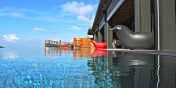 This St. Barths luxury villa rental has a 50 feet infinity-edge swimming pool.