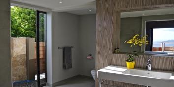Each bedroom has a private bathroom at Villa de Moh, Caribbean luxury villa rental.