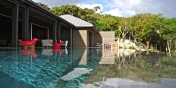 Villa de Moh, Heights of Lurin, St. Barts, has a large infinity-edge swimming pool.