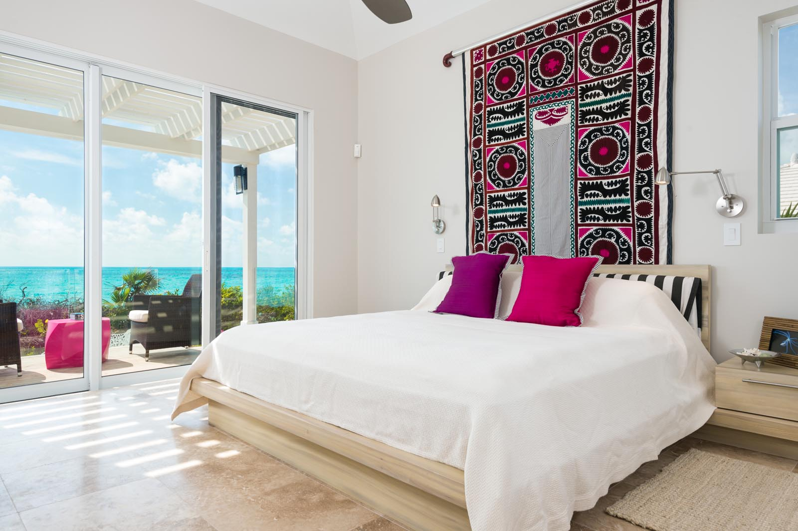 Villa Isla has 5 equal master bedrooms each with stunning views of Long Bay