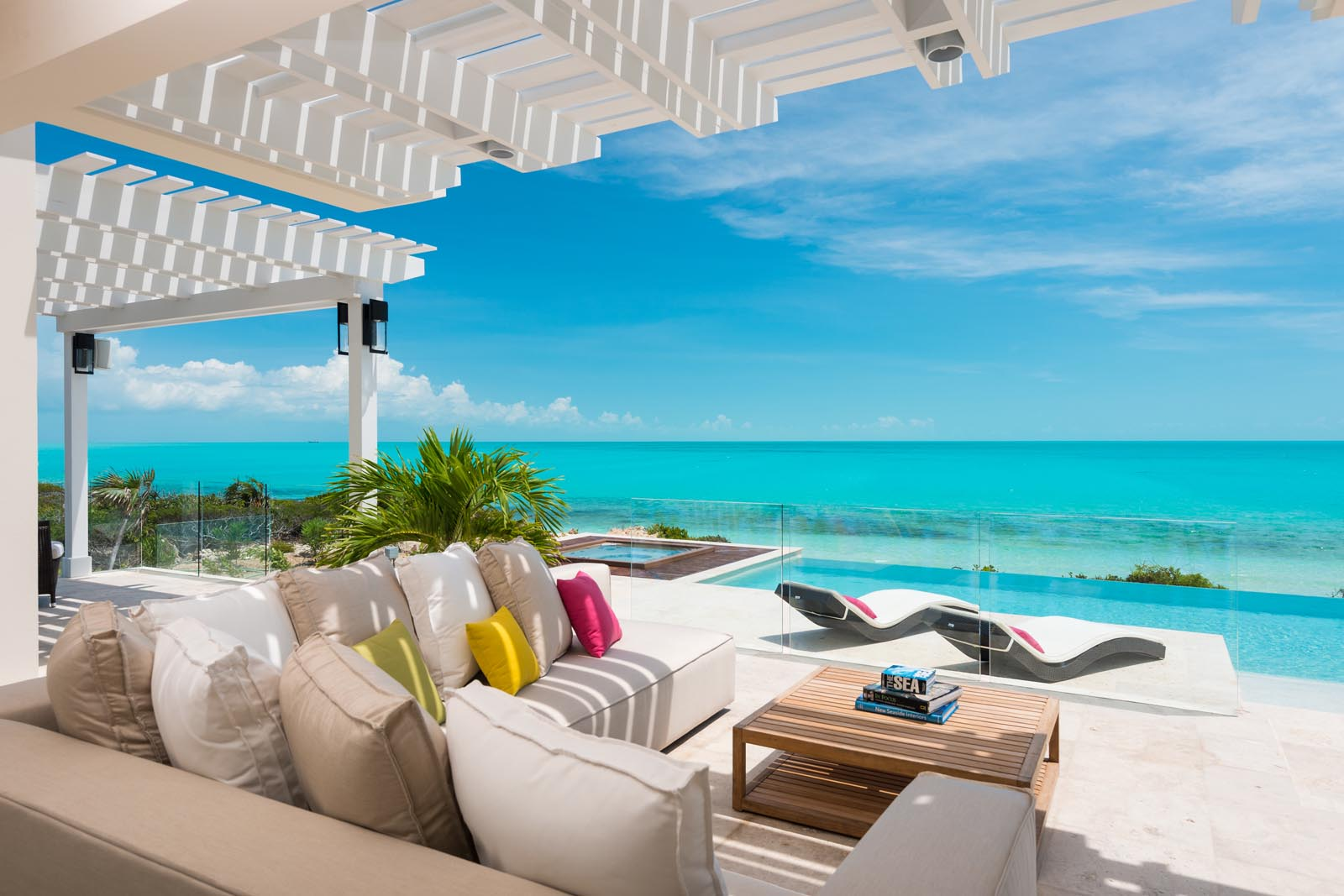 Comfortable Contemporary Furnishings For Outdoor Caribbean Living At This Turks And Caicos Vacation Villa Al