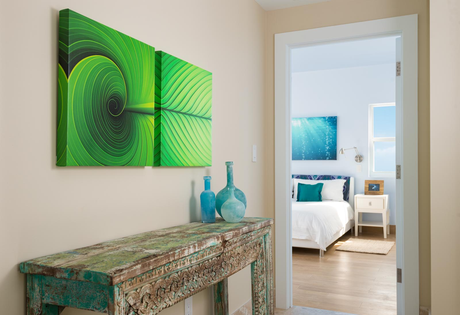 Attention has been paid to every detail at Villa Isla, Long Bay Beach, Providenciales (Provo), Turks and Caicos Islands