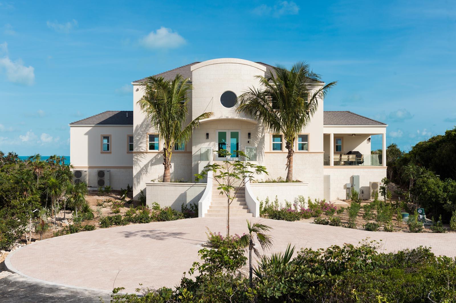 The entrance to Villa Isla, Long Bay Beach, Providenciales (Provo), Turks and Caicos Islands