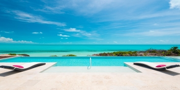 A luxurious and stunning 5 bedroom, beachfront villa with infinity-edge swimming pool and spectacular views of the turquoise sea!