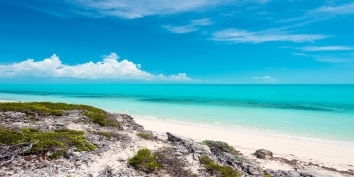 Spectacular views of 3 mile long Long Bay Beach and the turquoise sea