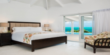 There are 4 bedrooms and 6 beds at Beach Villa Sandstone, Providenciales (Provo), Turks and Caicos Islands.