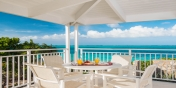 Enjoy alfresco dining at beautiful Beach Villa Sandstone, Providenciales (Provo), Turks and Caicos Islands.