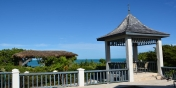This Turks and Caicos vacation villa rental has a gazebo with fantastic views of the beach and ocean.