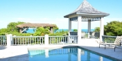 The private swimming pool and gazebo at Callaloo Cottage, Providenciales (Provo), Turks and Caicos Islands.