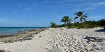 You can quite literally walk for miles and miles on the beach from this Turks and Caicos vacation villa rental.