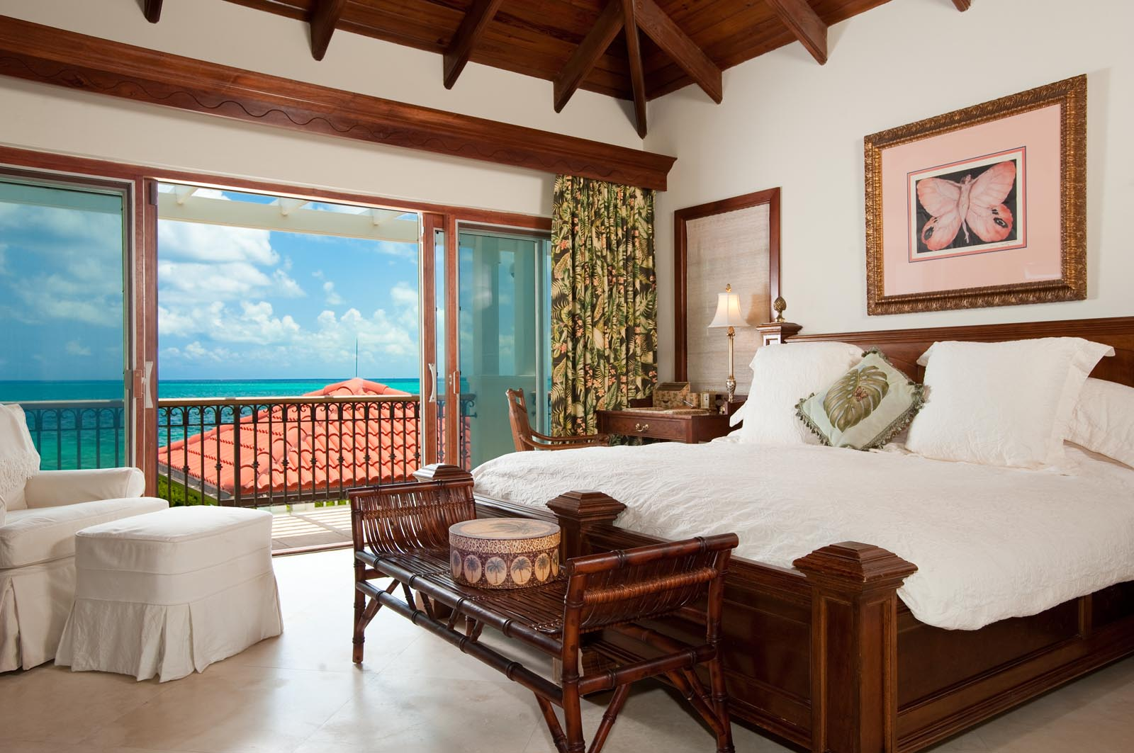 Feel the smoothing breeze from the ocean at this Turks and Caicos luxury villa rental.