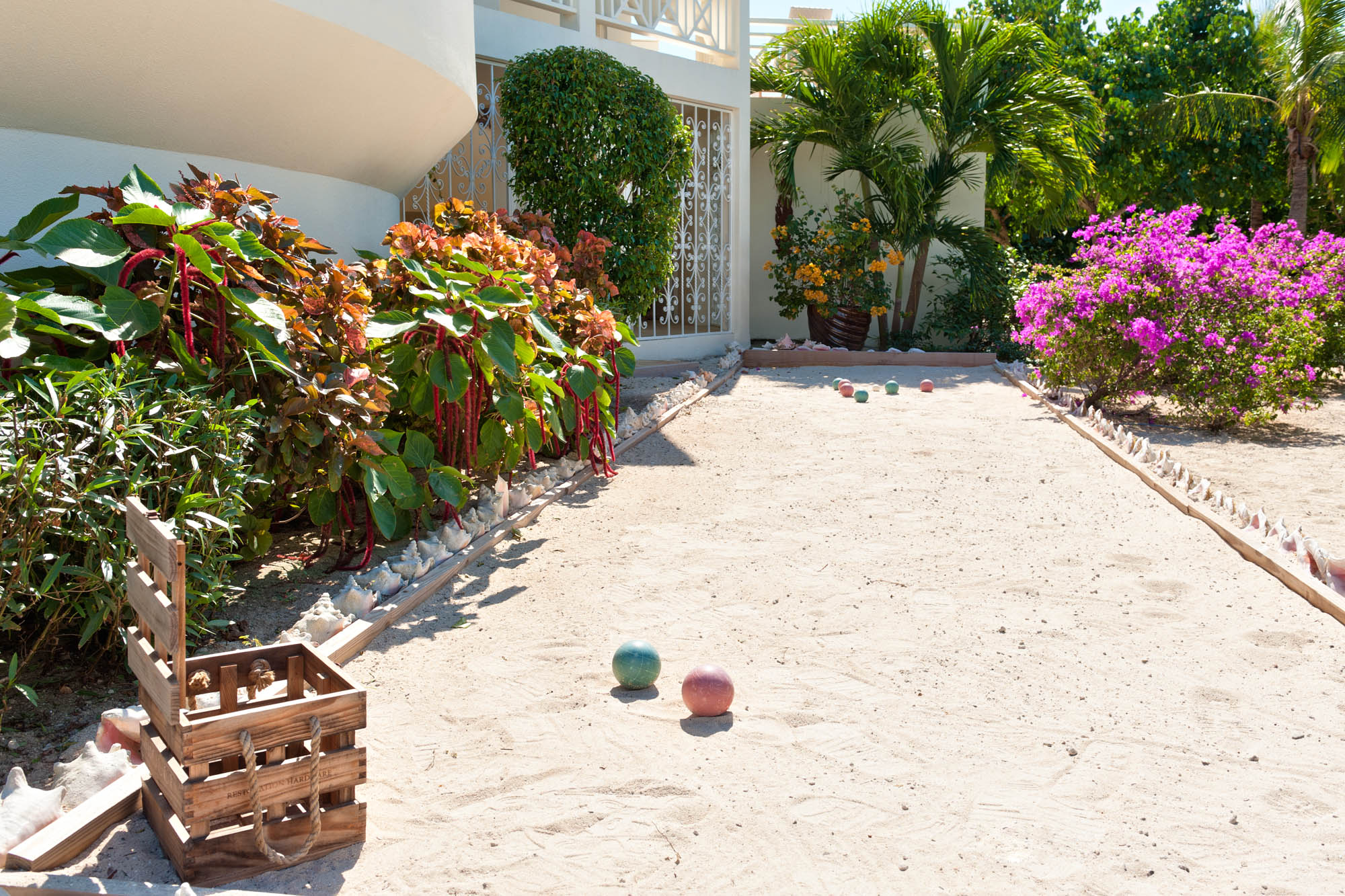 Your private Boci ball court at Turtle Beach Villa, Grace Bay Beach, Providenciales (Provo), Turks and Caicos Islands.