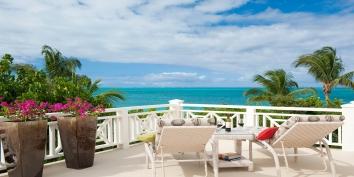 Soak up the Caribbean sunshine on the sun deck of Turtle Beach Villa, Grace Bay Beach, Providenciales (Provo), Turks and Caicos Islands.