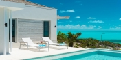 This Turks and Caicos luxury villa rental is located directly on Long Bay Beach, Providenciales (Provo).