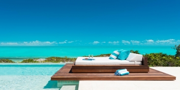 Aguaribay beachfront villa has an infinity swimming pool and spectacular views.