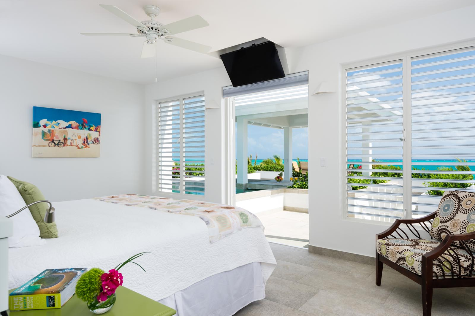 Wake up to a stunning view at Cascade, Babalua Beach, Providenciales (Provo), Turks and Caicos Islands.