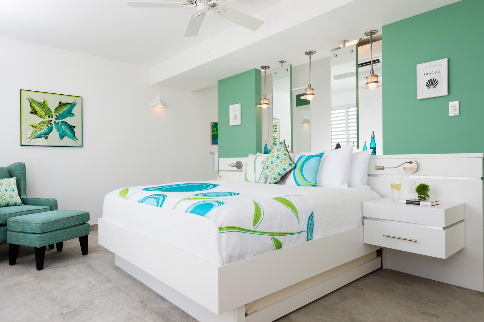 This Turks and Caicos luxury villa rental has 6 master bedroom suites featuring all king-size beds or optional twin beds.
