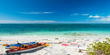 Snorkel, kayak, or paddleboard from Villa Cascade's private beach area.