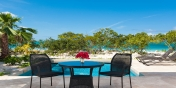 Enjoy your vacation on the gorgeous pool deck at this Providenciales holiday villa rental.