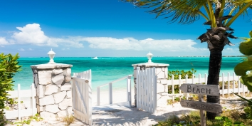 Feels like a private gateway to heaven at Reef Beach House, Grace Bay Beach, Providenciales, Turks and Caicos Islands.