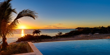 Enjoy magnificent sunsets from Miami Vice One,  Providenciales (Provo), Turks and Caicos Islands.