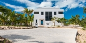 The driveway to Miami Vice Two, Sapodilla Bay, Providenciales (Provo), Turks and Caicos Islands.