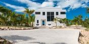 The driveway to Miami Vice Two, Sapodilla Bay, Providenciales (Provo), Turks and Caicos Islands.