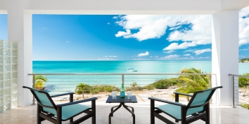 Prepare some cocktails and enjoy the spectacular views from your private patio at Miami Vice Two, Sapodilla Bay, Providenciales (Provo), Turks and Caicos Islands.