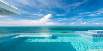 Plum Wild, Grace Bay Beach, Providenciales (Provo), Turks and Caicos Islands has an upper level swimming pool with spectacular views.