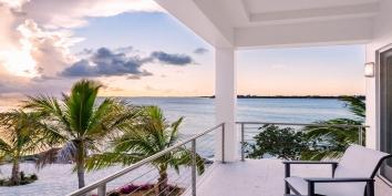 Villa Positano, Sapodilla Bay Beach, Providenciales (Provo), Turks and Caicos Islands, has a top floor master bedroom suite with private patio.