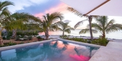 This Turks and Caicos beach villa rental has a private, freshwater swimming pool.