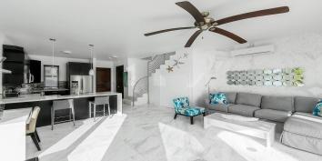 Contemporary, comfortable, Caribbean living at Villa Positano, Sapodilla Bay Beach, Providenciales (Provo), Turks and Caicos Islands.
