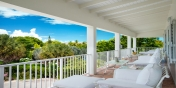 Magnificent views from the covered porch at Reef Pearl, Grace Bay Beach, Providenciales (Provo), Turks and Caicos Islands.