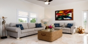 The living area of Reef Pearl, Grace Bay Beach, Providenciales (Provo), Turks and Caicos Islands.