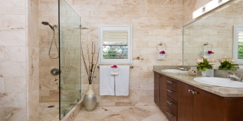 One of the bathrooms at Reef Pearl, Grace Bay Beach, Providenciales (Provo), Turks and Caicos Islands.