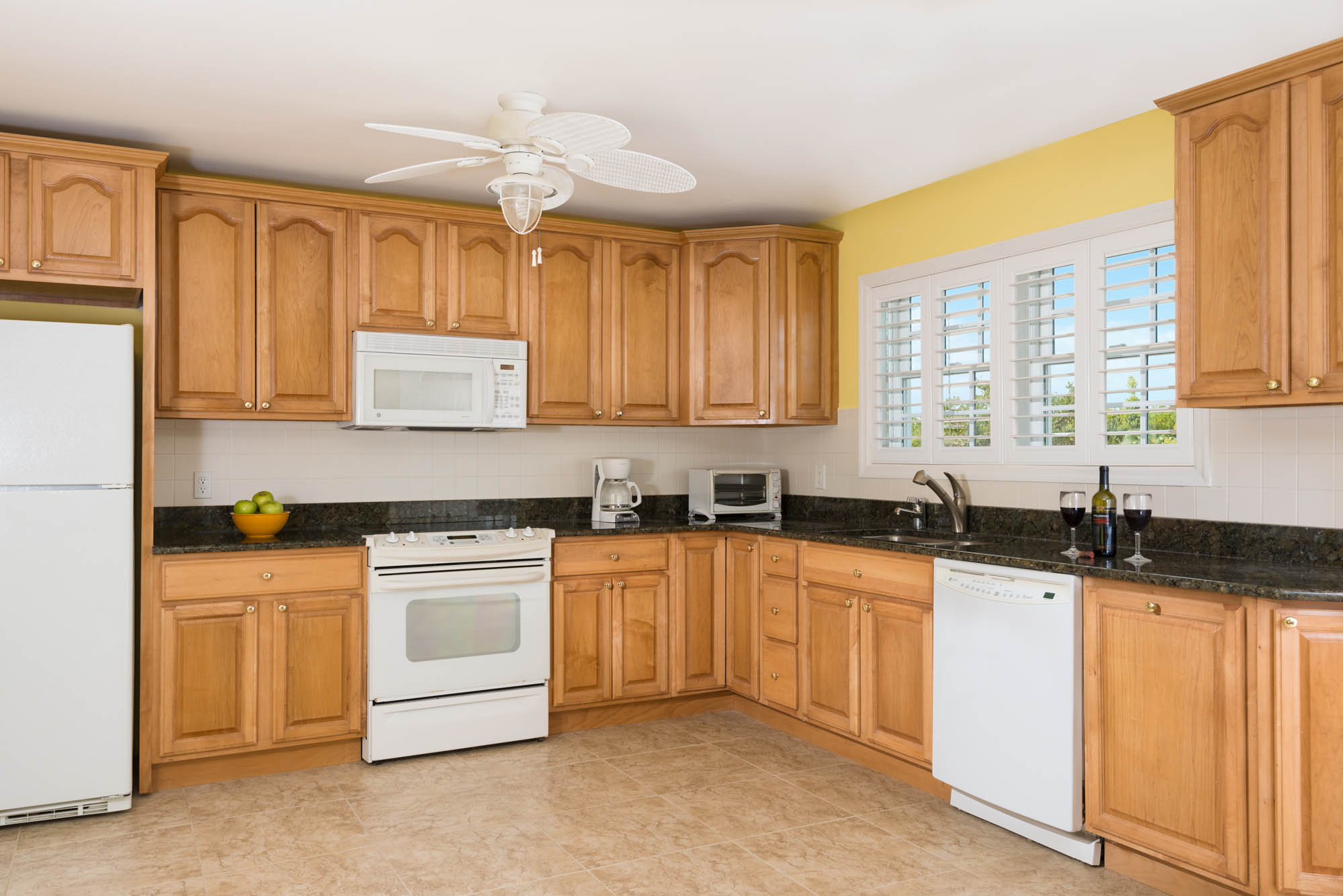 This Turks and Caicos villa rental has two fully equipped kitchens, one on the upper level and this one beach level.