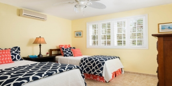 This Caribbean holiday villa has a total of 5 bedrooms each with a private bathroom.