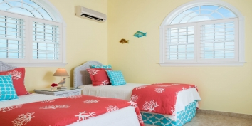 There are a total of 5 bedrooms at villa Sandy Beaches, Long Bay Beach, Providenciales (Provo), Turks and Caicos Islands.