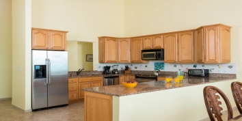 This Turks and Caicos holiday villa has two kitchens fully equipped with everything you may need during your vacation.
