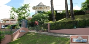 SOL Y MAR VILLA, TOBAGO W.I.  8 Aurora Ave. Mt. Irvine, Tobago. Showing  gated entrance and cantilevered gazebo