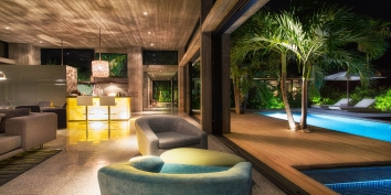 This Turks and Caicos luxury villa rental is absolutely gorgeous by day or by night.