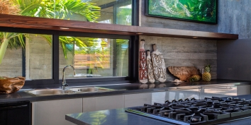 This Turks and Caicos luxury villa rental has a kitchen equipped with everything you may need while on vacation.