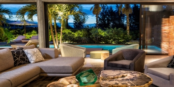 Seemless indoor and outdoor living at Villa Islander, Providenciales (Provo), Turks and Caicos Islands, B.W.I.