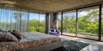 This Caribbean luxury villa rental has a total of 4 master bedroom suites with private bathrooms.