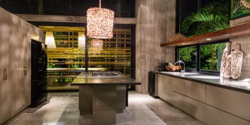 The beautiful and fully equipped kitchen of Villa Islander, Providenciales (Provo), Turks and Caicos Islands, B.W.I.